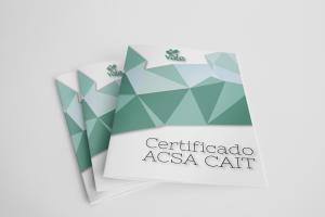 Certificado ACSA CAIT